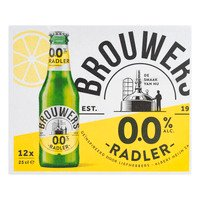 12 x 0,25 l - Brouwers Radler 0% fles 12-pack