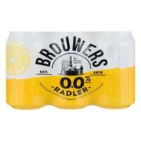 6 x 0,33 l - Brouwers Radler 0% blik 6-pack